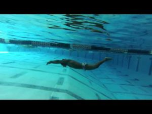 Butterfly kick underwater